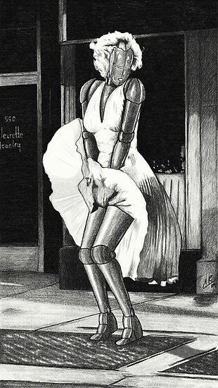 Marilyn Monroe Robot by peabody00