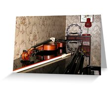 Violin on top of Piano Greeting Card