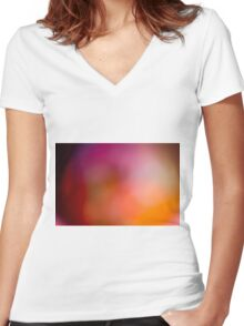 Abstract brilliant colorful abstract in red Women's Fitted V-Neck T-Shirt