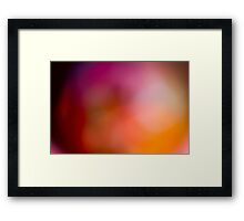Abstract brilliant colorful abstract in red Framed Print