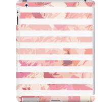 Modern vintage pink coral watercolor stripes iPad Case/Skin