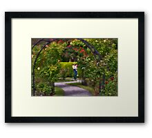 Afternoon in Boston Rose Garden Framed Print