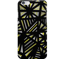 Briggeman Abstract Expression Yellow Black iPhone Case/Skin