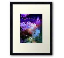 To my friend, Zoe ... many blessings for this day Framed Print