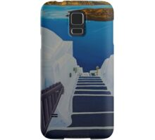 Upstairs Downstairs to Santorini Caldera Samsung Galaxy Case/Skin
