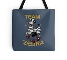 Team Zebra Tote Bag