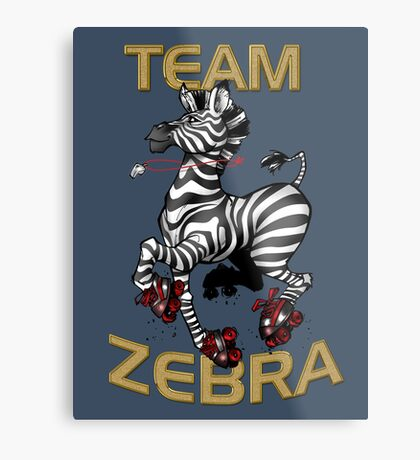 Team Zebra Metal Print