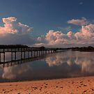 Early morning reflections at Urunga by myraj