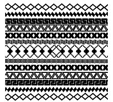 Vintage black and white tribal aztec pattern Photographic Print