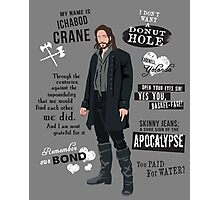 Ichabod Crane Photographic Print