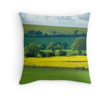 Below Warden Hill, Bedfordshire. Throw Pillow
