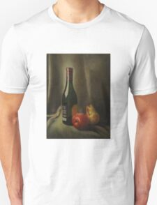 Still life of wine and fruit T-Shirt