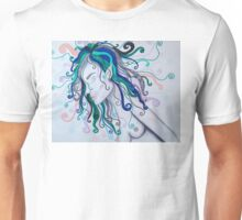 Rainbow haired nymph Unisex T-Shirt
