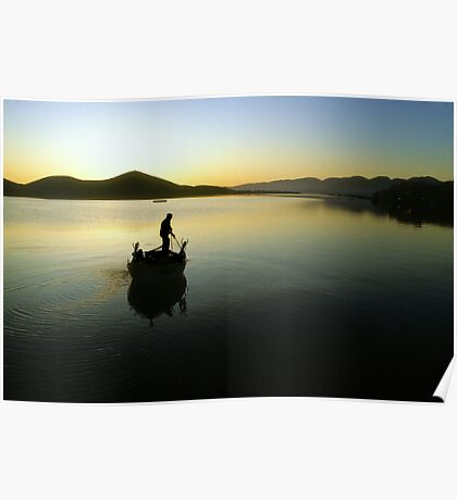 Early morning Greek fisherman--Crete  Poster