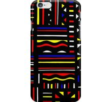 Massucci Abstract Expression Yellow Red Blue iPhone Case/Skin