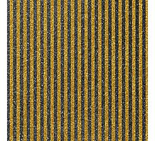 Modern vintage black gold glitter effect stripes Photographic Print