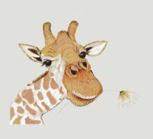Giraffe with a flower T-Shirt