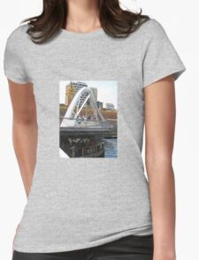 ACROSS THE BRIDGE TO FLINDERS STREET STATION Womens Fitted T-Shirt