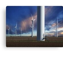 Wind Farm at Sunset Canvas Print