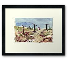 Under A Telephone Pole Framed Print