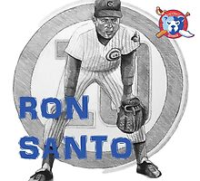 Chicago Cubs Ron Santo by ABaroneWT