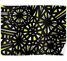 Bianchini Abstract Expression Yellow Black Poster