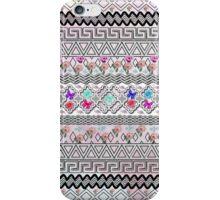 vintage Black White aztec pink flamingo floral iPhone Case/Skin