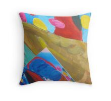 an altered landscape Throw Pillow