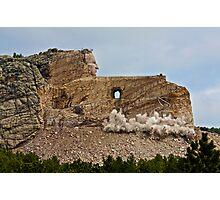 Crazy Horse Memorial - Memorial Day Blasting - 2009 Photographic Print