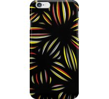 Flourney Abstract Expression Yellow Black iPhone Case/Skin