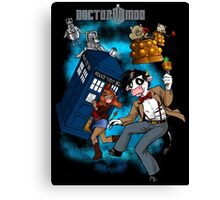 Doctor Moo vs the Baaleks and CyberHens Canvas Print