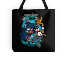 Doctor Moo vs the Baaleks and CyberHens Tote Bag