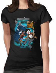 Doctor Moo vs the Baaleks and CyberHens Womens Fitted T-Shirt