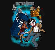 Doctor Moo vs the Baaleks and CyberHens Unisex T-Shirt