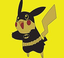 Pikachu pokemon Batman by JackCustomArt