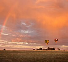 Balloons and rainbows by Peter Hodgson