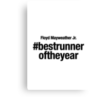 Best Runner of the Year, Floyd Mayweather Canvas Print