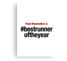 Best Runner of the Year Canvas Print