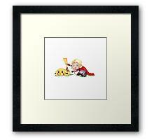 Thor and Pokemon Framed Print