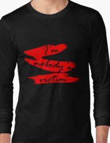 Nobody's Victim RED Long Sleeve T-Shirt