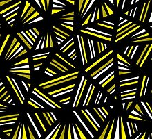 Luptak Abstract Expression Yellow Black by martygraw