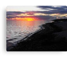 Sunset at Denham, Shark Bay Western Australia Canvas Print