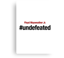 Undefeated, Floyd Mayweather Canvas Print
