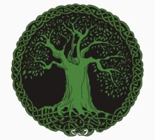 Celtic Tree (Green version) Kids Clothes