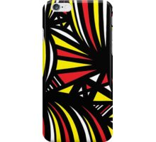 Mongeon Abstract Expression Yellow Red Black iPhone Case/Skin