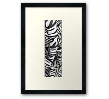Zebra Abstract Framed Print