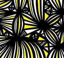 Nakasone Abstract Expression Yellow Black by martygraw