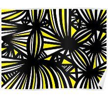 Nakasone Abstract Expression Yellow Black Poster