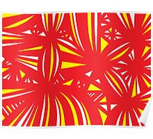 Gehr Abstract Expression Yellow Red Poster
