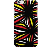 Smisek Abstract Expression Yellow Red Black iPhone Case/Skin